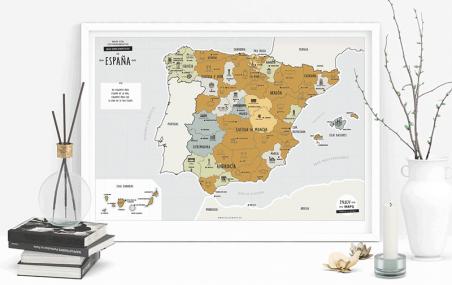 Mapa de España rascar personalizado