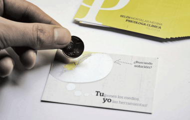 Impresiones tarjetas tinta rascable
