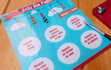 Impresión tarjetas promocionales con rasca