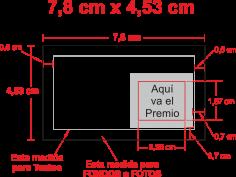 Diseño estándar 7,8x4x5cm