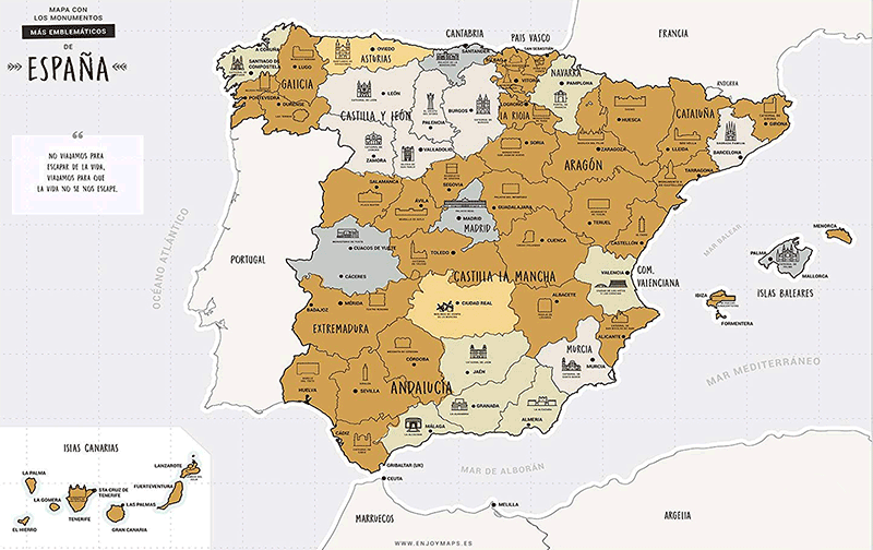 Mapa personalizable rasca España