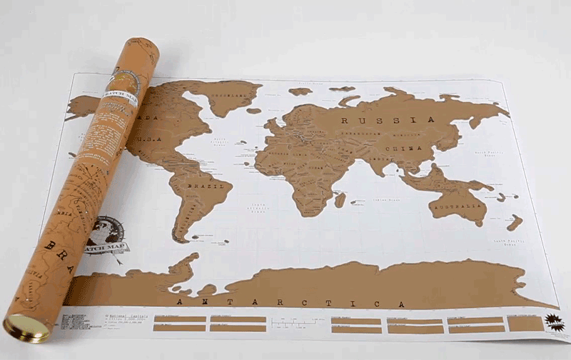 Mapa rasca personalizado